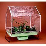 The Folding Greenhouse by Grower's Supply Company, Inc.. $76.45. Conduct dozens of experiments with this space-saving greenhouse. The transparent vinyl shell and sturdy aluminum frame offer a lightweight, portable growth environment for seeds and bulbs. The light fixture (not included) attaches easily to the frame. Includes: plant tray, stand, water reservoir, pots and setup instructions.