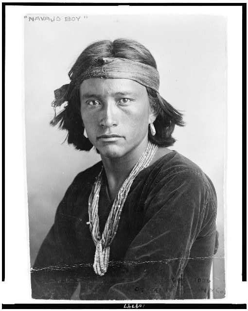 Navajo boy.  Karl E. Moon & Co., c1906.  Miscellaneous Items in High Demand, Library of Congress Prints and Photographs Division.