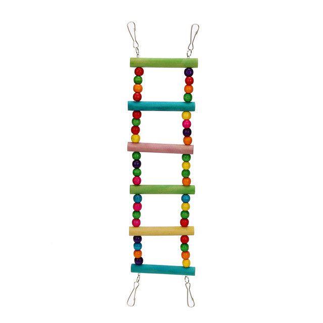 Bird toys parrot Ladder Climbwood parrot toy Macaw Swing Shelf Parrot Bites Play brinquedo 27~70CM parkiet vogel speelgoed &EY11