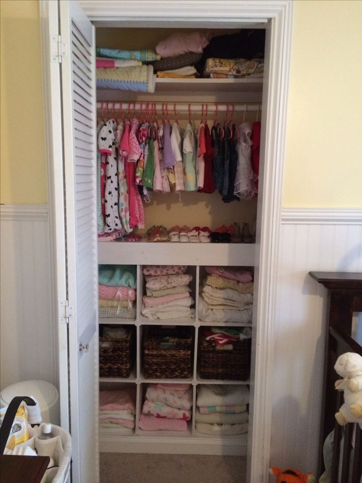 Nursery small closet storage storage solutions for for Storage solutions for small closets