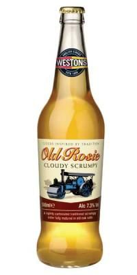 Weston's Old Rosie Scrumpy Cider 500ml  I pinned this for the style of the bottle and label. Never tasted it but I'd be willing to try!