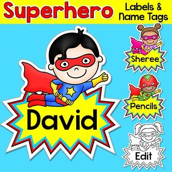 Superhero Labels & Name Tags: These fun superhero kids name tags and labels will look fantastic in your classroom! This set is so versatile because you can make any labels that you want with the included blank labels and editable PowerPoint file. These would make great bin or basket labels, job cards, flash cards and name tags.