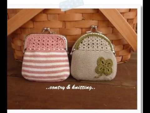 Monederos tejidos a crochet - YouTube