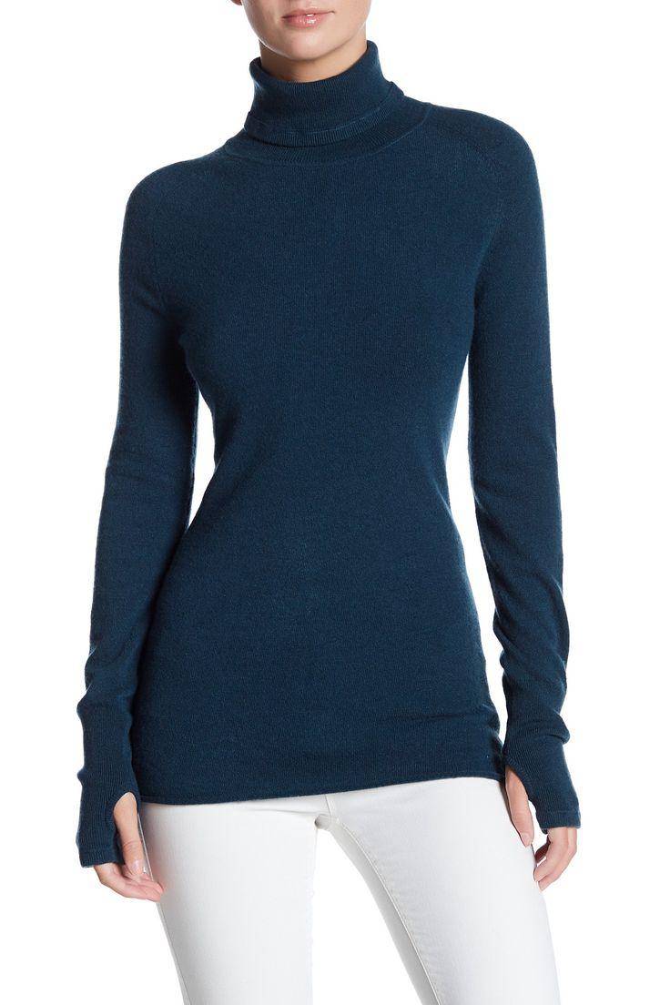 Turtleneck Long Sleeve Cashmere Sweater