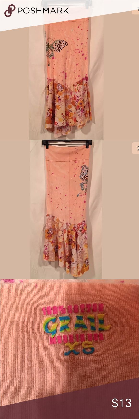 Grail 100% Cotton Maxi Skirt Size XS Grail 100% Cotton Maxi Skirt Size XS. See pics for minor flaws on waist. Grail Skirts Maxi