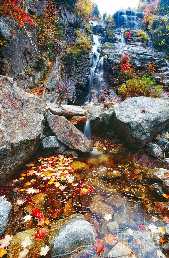 Silver Cascade, White Mountain National Forest, New Hampshire.