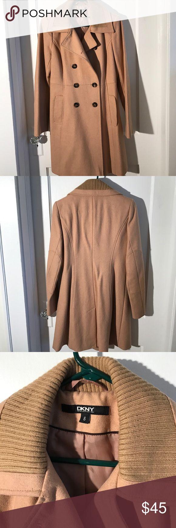 DKNY Wool coat Camel color wool DKNY coat DKNY Jackets & Coats