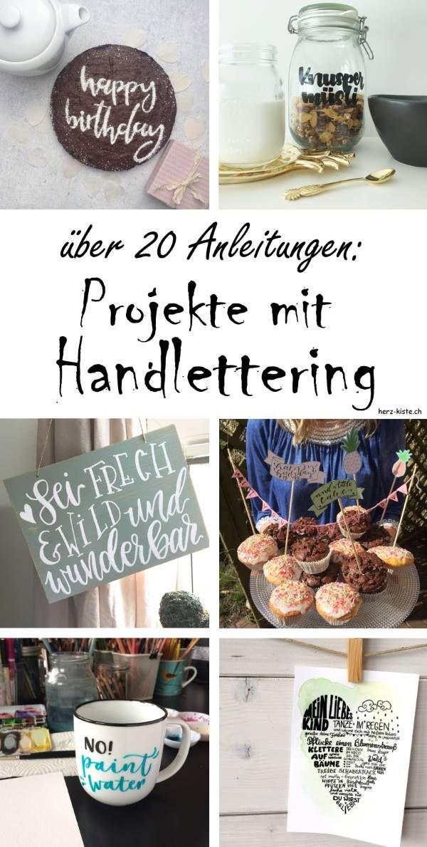Projekte mit Lettering Blogger - Deko-Ideen Pinterest - küche folieren anleitung