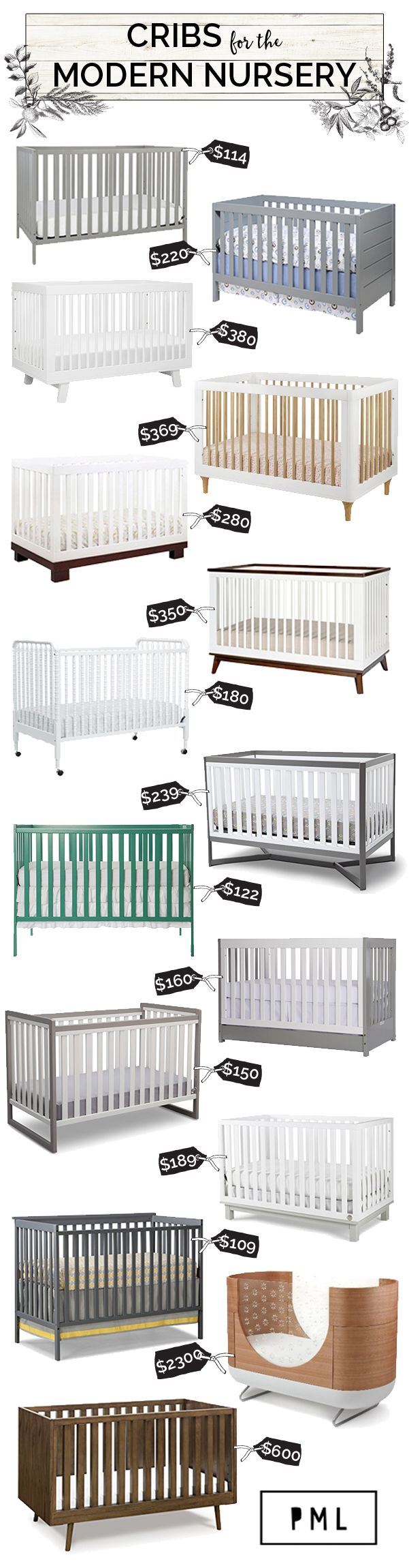 Cribs for the modern nursery | Petite Modern Life