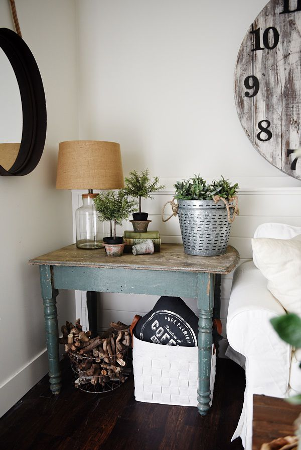 Living Room Makeover: End Table Number 1 | Cottage style