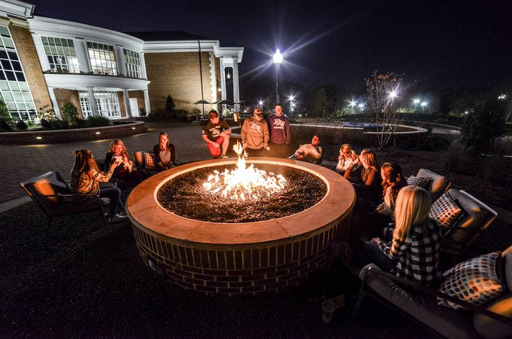 Fire pit outside of Cottrell Hall at High Point University