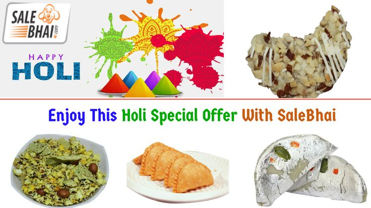 Buy #HoliSpecialSweets at Biggest Online Store - #SaleBhai