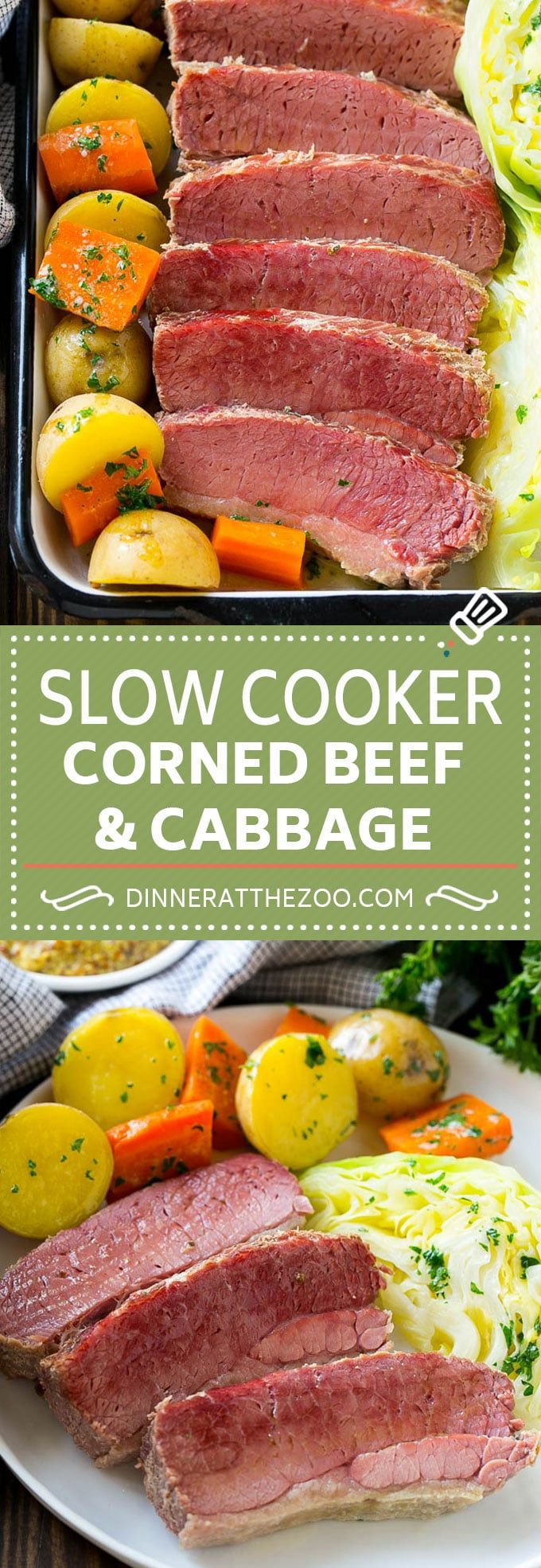 Slow Cooker Corned Beef and Cabbage | Crock Pot Corned Beef | St. Patrick's Day Corned Beef