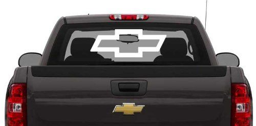 Want Just Want Chevy Bowtie Year Outdoor Decal White X - Chevy bowtie rear window decal