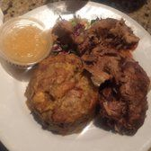 Photo of La Casa Del Mofongo - New York, NY, United States. Mofongo con Pernil. There was so much food! I love that they don't skimp on the portions because it tastes so good!