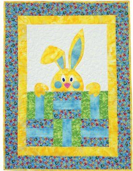 Peek-A-Boo Bunny quilt pattern, perfect for a quick baby gift or for an Easter wall hanging. via Amazon