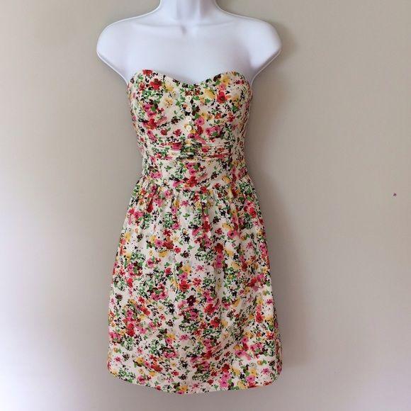 Floral strapless summer dress BeBop floral strapless sundress. Worn once. Perfect condition. Size M 20% off bundles of 2 or more! BeBop Dresses