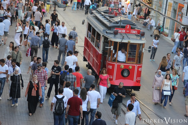 Istiklal Street is one of the most famous avenues in Istanbul, visited by nearly 3 million people in a single day over the course of weekends.