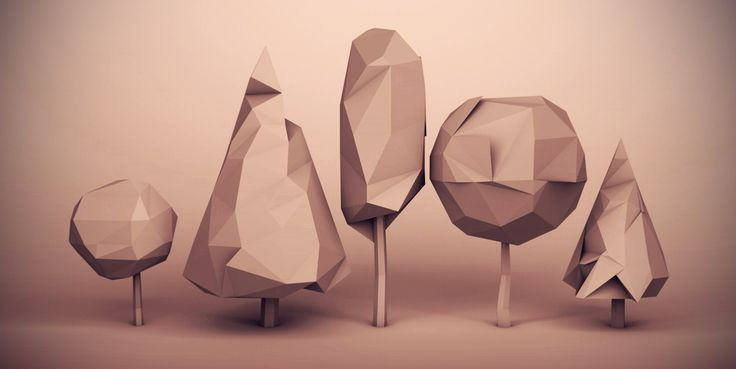 gabrysz:    Low poly trees bundle for landscape architect who is my friend.