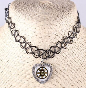 Choker Necklace Outfits Mix Heart-shaped NHL Sports Team