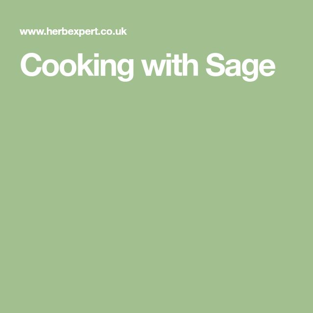 Cooking with Sage