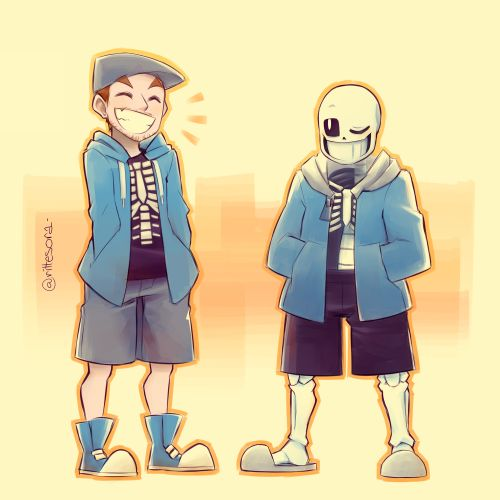 rittesora: Jack and Sans, because I remember he said that he wanted to dress up like him in one of his videos :')