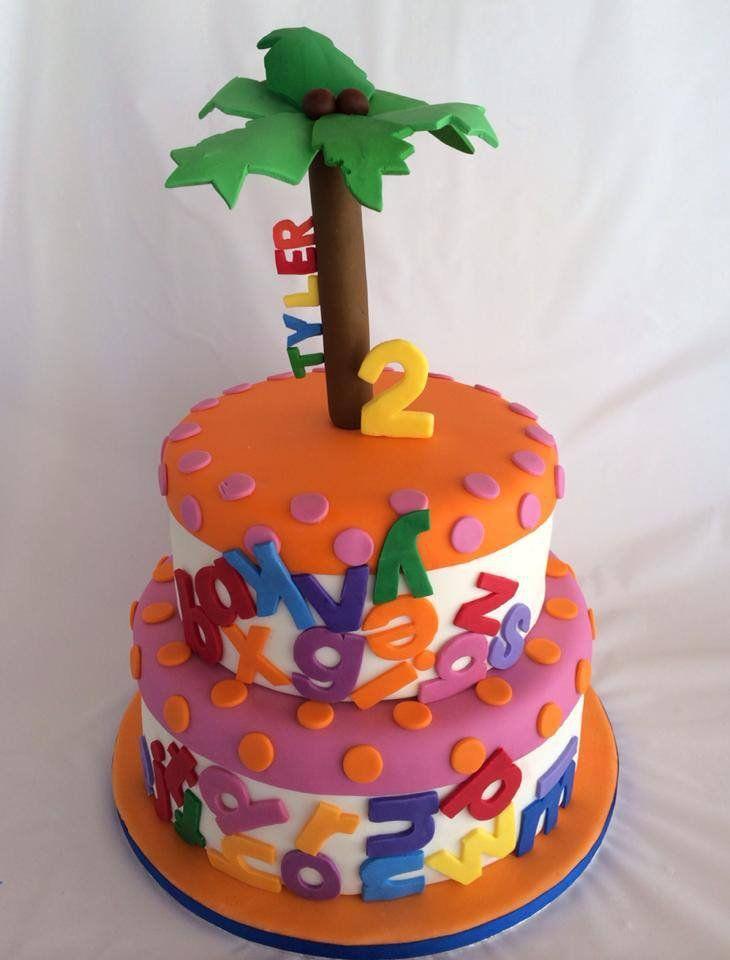 Chicka Chicka Boom Boom second birthday fondant cake.