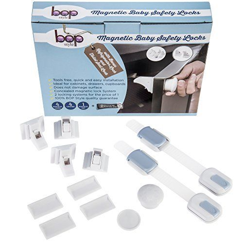 Child Proof Magnetic Baby Safety Locks | For Cabinets and Drawers | BONUS Toilet Seat Lock and Refrigerator Lock - http://parenting.mugamboglobalresources.com/child-proof-magnetic-baby-safety-locks-for-cabinets-and-drawers-bonus-toilet-seat-lock-and-refrigerator-lock/