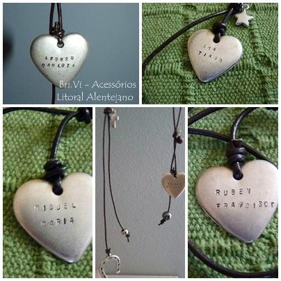 Corações personalizados