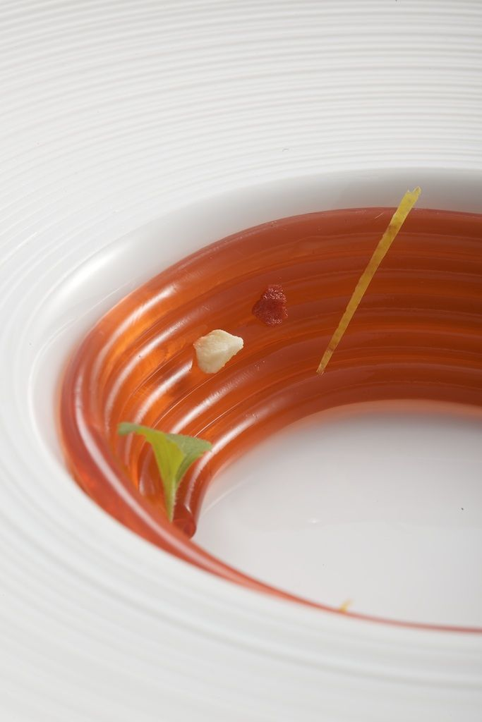 Strawberry Spaghetti molecular gastronomy  #MolecularGastronomy #Molecular #Gastronomy