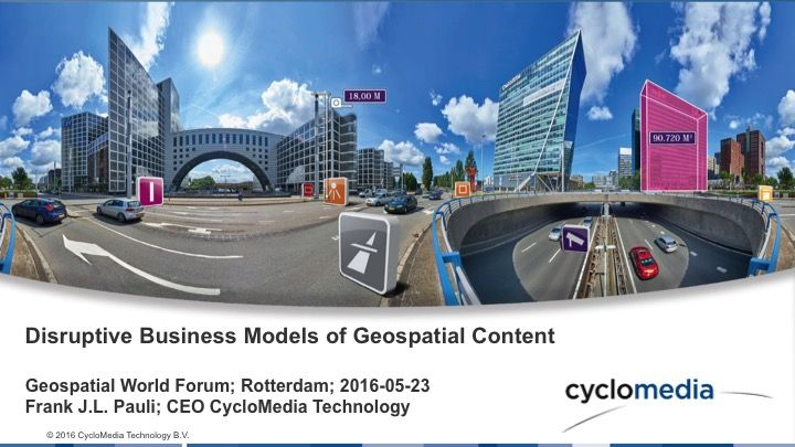 Disruptive Business Models of Geospatial Content -  CycloMedia USA