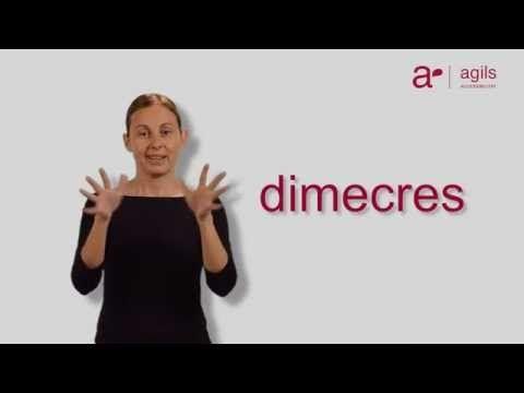 VIDEO CURS LLENGUA DE SIGNES: Els dies de la setmana i els mesos de l'any - Vocabulari en LSC Nº1 - YouTube