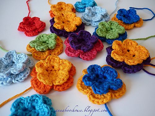 Ravelry: Simple crochet flower pattern by Annaboos House