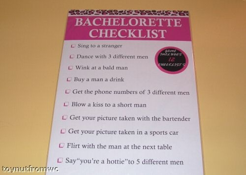 Bachelorette idea Oh this should be fun