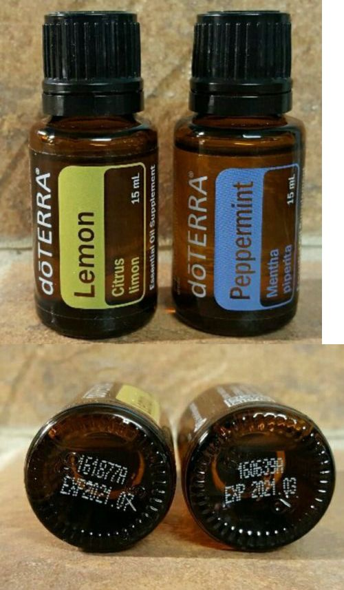Aromatherapy: Doterra Peppermint And Lemon Essential Oil 15Ml New BUY IT NOW ONLY: $33.0
