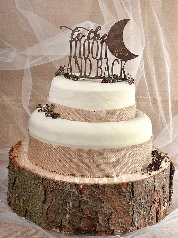 Rustic Cake Topper Wood Cake Topper To the by forlovepolkadots