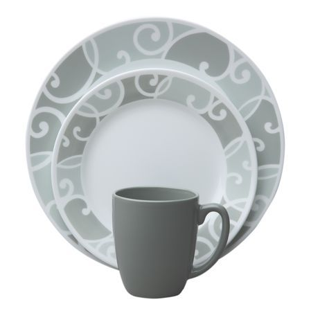 CORELLE® Vive™ Ribbons and Swirls 16-pc Dinnerware Set - World Kitchen  sc 1 st  Pinterest & 21 best Dinnerware Ideas images on Pinterest | Dinnerware ideas ...