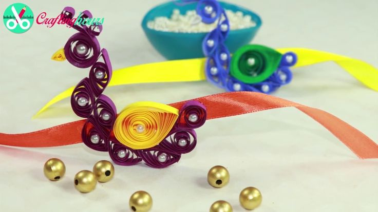 Amazing Peacock Rakhi with Paper Quilling | Rakhi Making Idea
