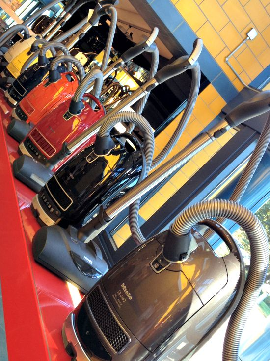 A little army of the world's best Miele vacuum cleaners.