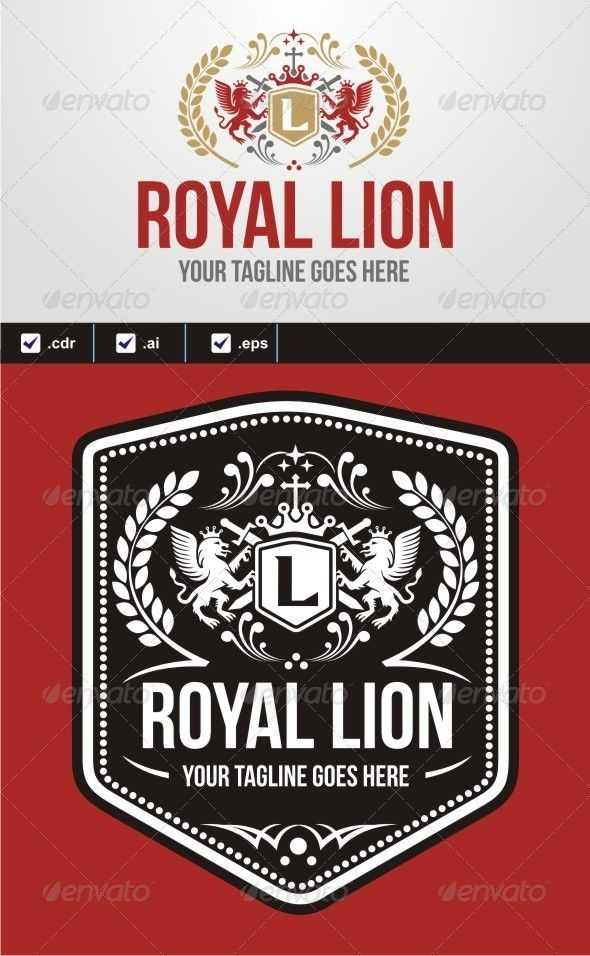 royal lion ver2 logo design template vector logotype download it here http