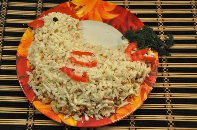 две рецепт салата курочка ряба слоями с фото вам