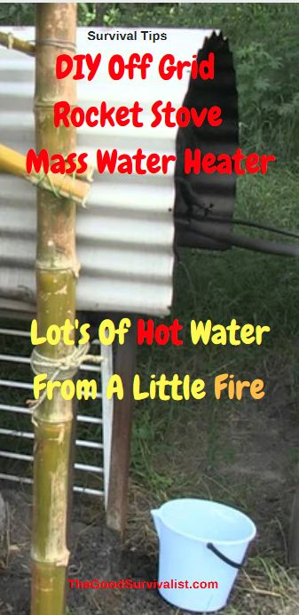 Survival Tips-There are a lot of ways to go with this. We've seen a lot of  positive feedback about this video. Watch the video now to  see all the possibilities for this rocket stove mass water heater.