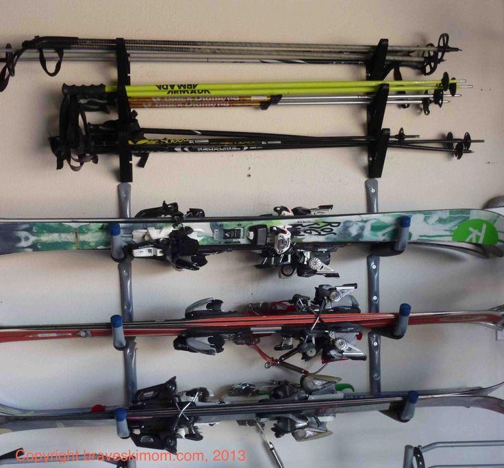 Perfect Ski And Pole Storage   Sweet Idea!