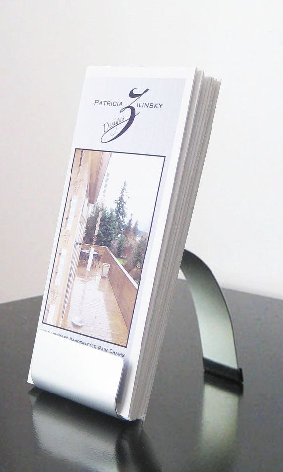 Modern Metal Brochure Holder by steelribbons on Etsy