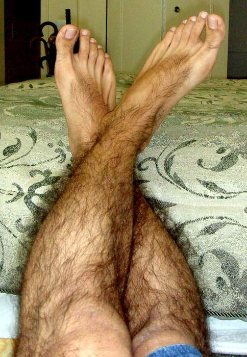 gay feet hair