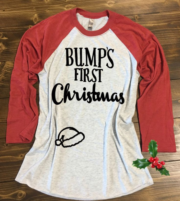 Bump's First Christmas® Shirt. Pregnancy Christmas Shirt. Mommy to be Christmas Shirt. Baby Bump Christmas Shirt. Maternity Christmas Shirt by strongconfidentYOU on Etsy https://www.etsy.com/listing/256431508/bumps-first-christmas-shirt-pregnancy