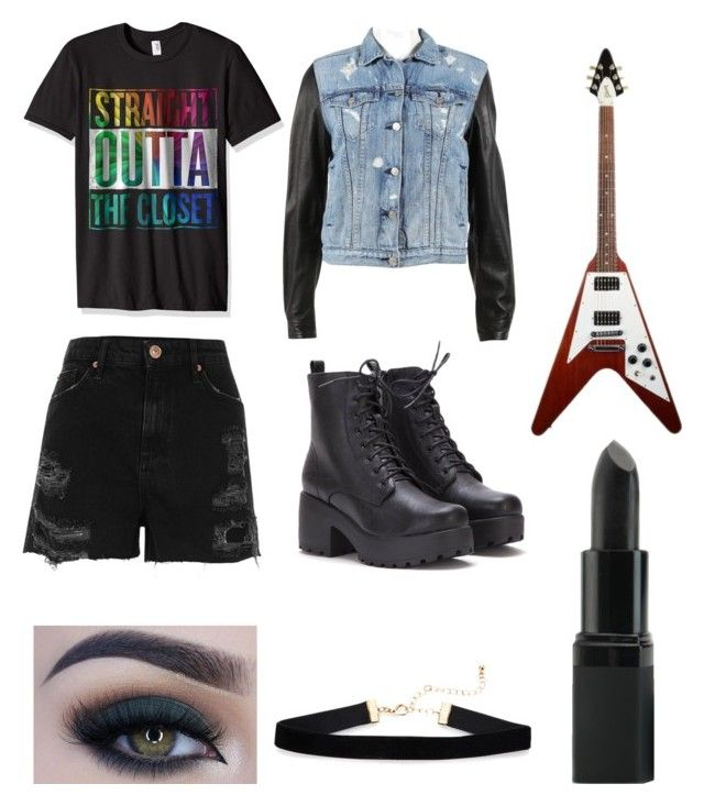 """""""Straight Outta The Closet"""" by that-potato-trash ❤ liked on Polyvore featuring rag & bone, River Island, Too Faced Cosmetics and Barry M"""