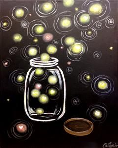 Firefly Jar- Family Time - Sarasota, FL Painting Class - Painting with a Twist