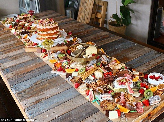 Mouth-watering: The spreads can take anywhere from one to three hours to assemble, dependi...