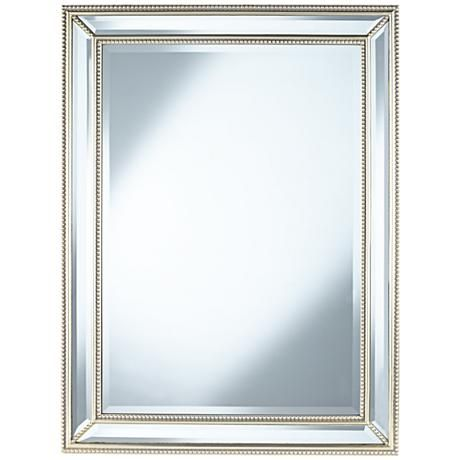 mirror 40 x 40. uttermost palais beaded 30\ mirror 40 x